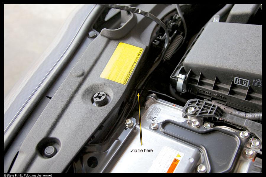 Zipt tie #2: in front of the inverter