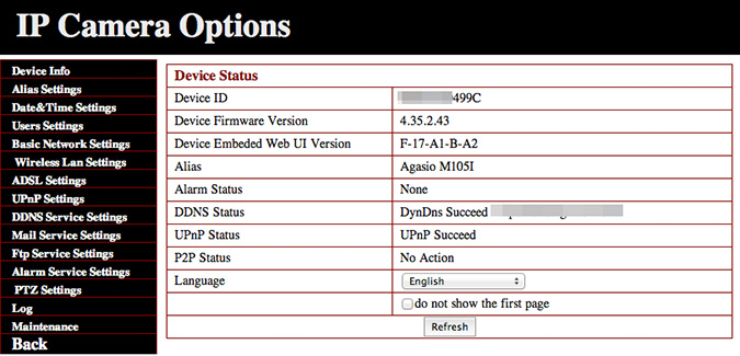 Web-based UI in Server Push Mode for Mac OS X users.