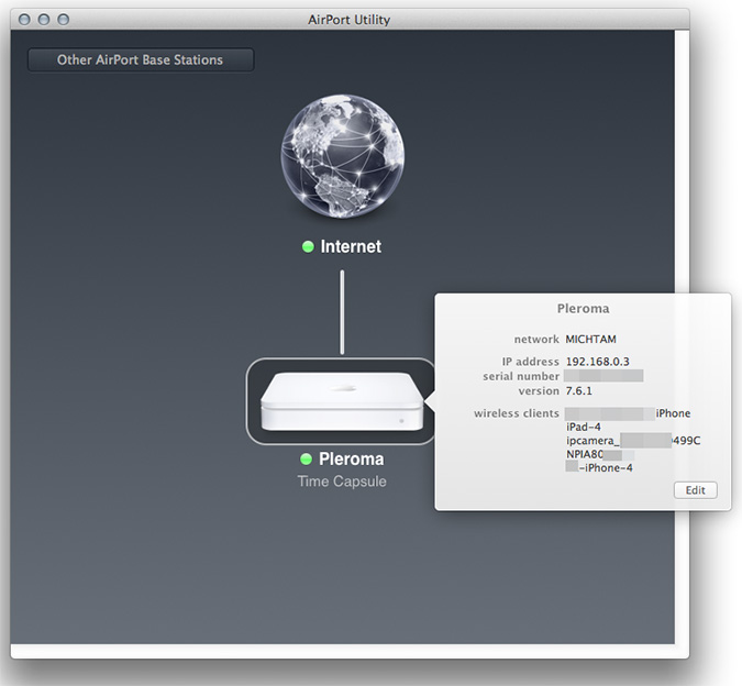 Setting up port mapping on an Apple AirPort device