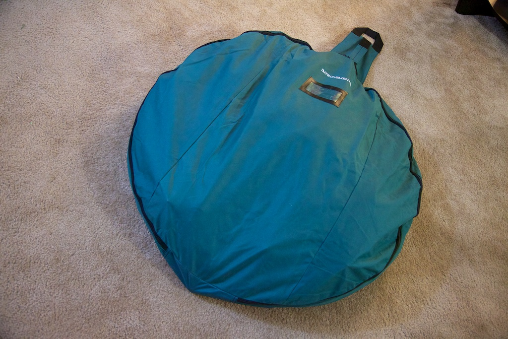 Pull-up Christmas tree in the optional storage bag and ready for next Christmas