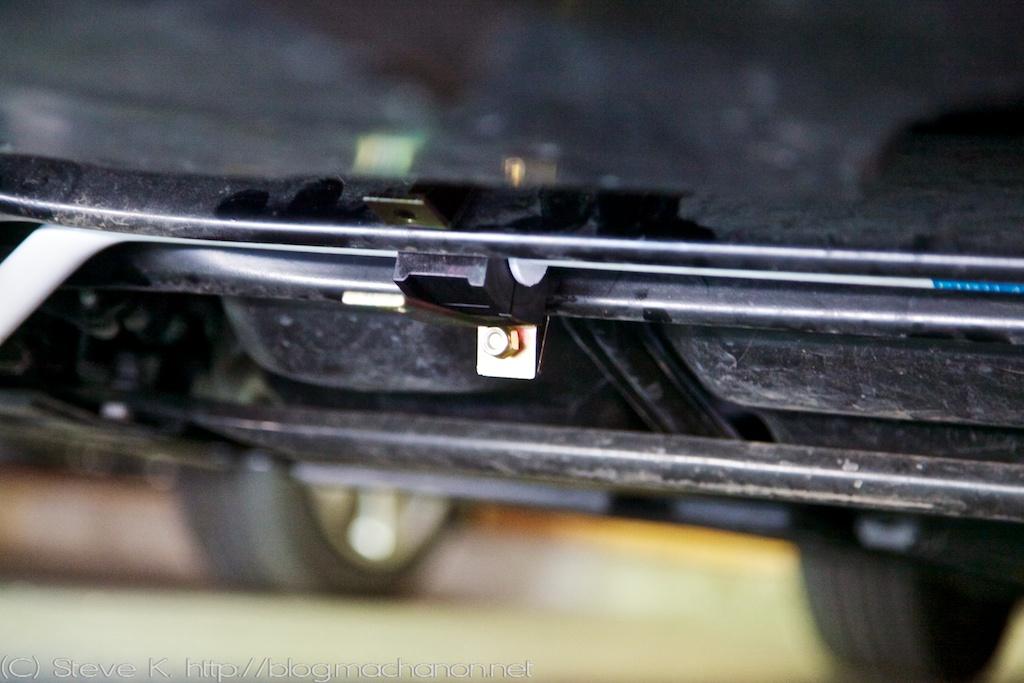 Prius PLUS rear sway bar lower bushing clamp