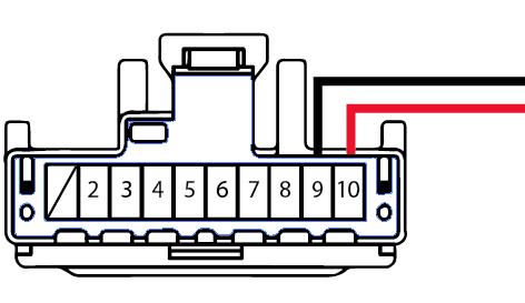 10-pin mirror connector