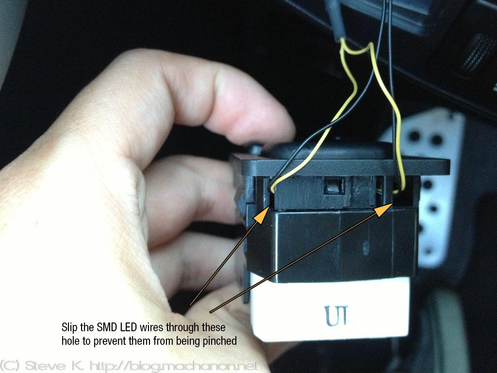 2010+ 3rd gen Toyota Prius JDM power folding side mirror illuminated mirror switch mod