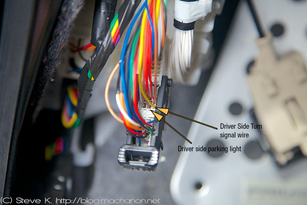 3rd gen Prius JDM power folding side mirrors DIY guide: Wiring up the 3-in-1 combo welcome light LED kit
