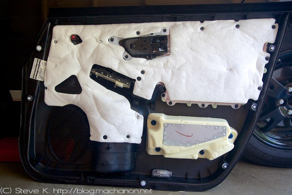 3rd gen Prius door panel removal: door panel removed
