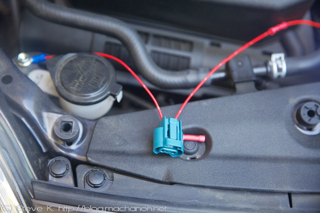 How to add DRL to a 2010-2011 Prius- female 9005 dummy connector plugs into passenger side high beam