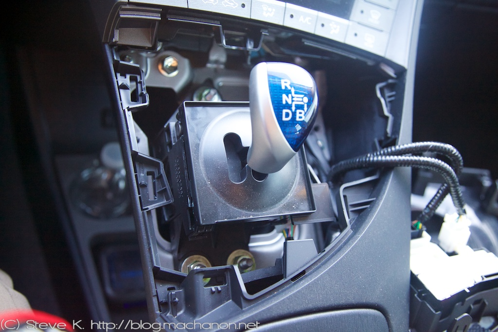 OGS Intelligence Position Switch Prius ZVW30: Remove three 12 mm nuts