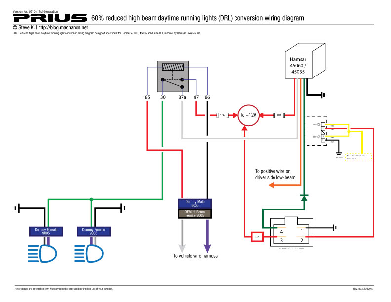 hamsar 45060 wiring diagram with switch diy how to add daytime running lights to a 2010 2011 prius  at virtualis.co