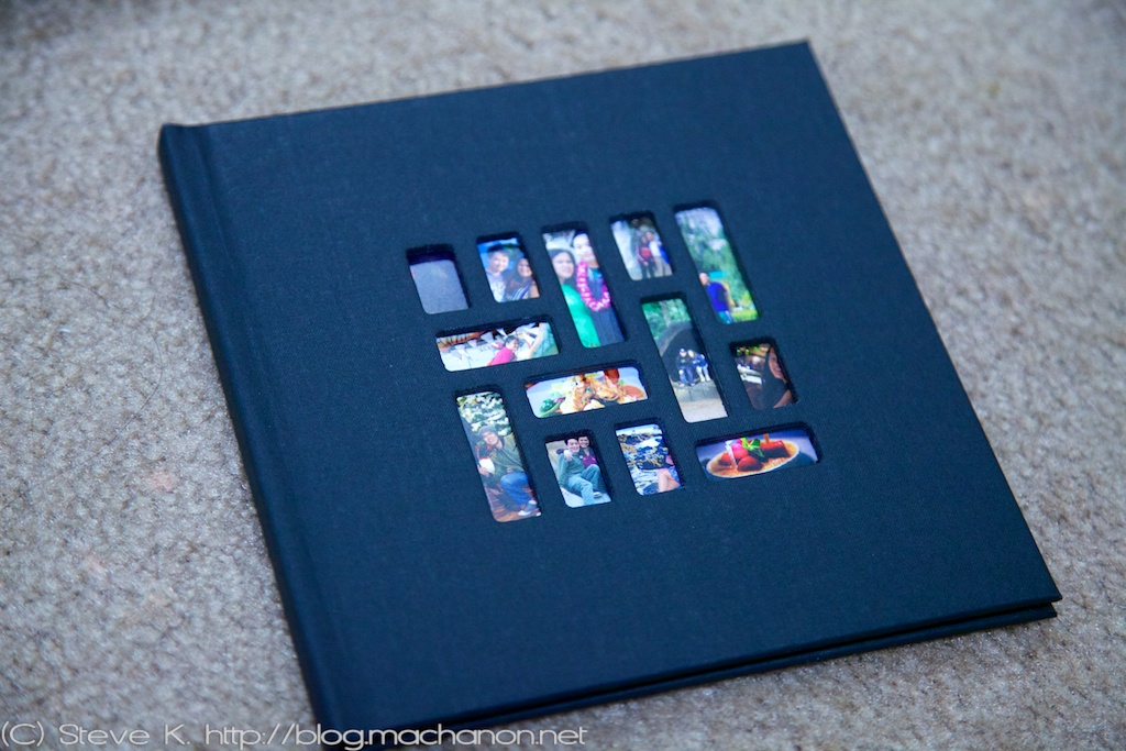 Mosaic photo book, black album cover