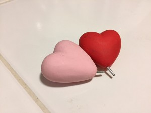 Detachable hearts for the base