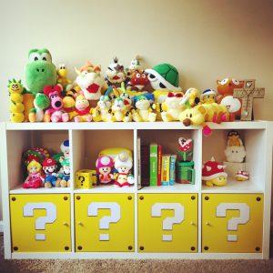 Nintendo themed baby nursery