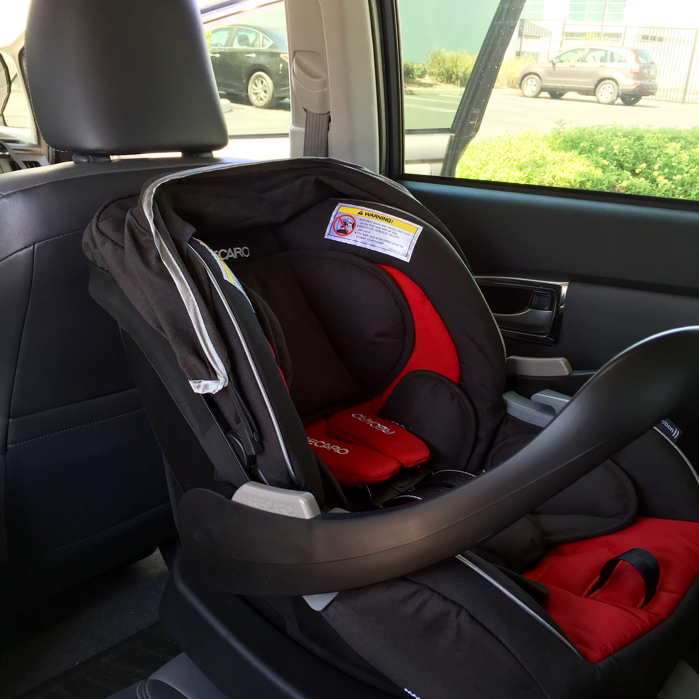 Recaro Performance Coupe Infant Seat Installed In A 3rd Gen 2017 Prius Four Lift Back