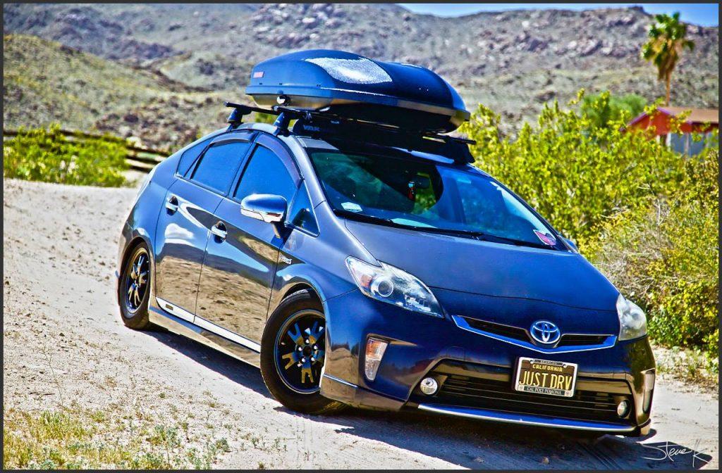 2012 Toyota Prius with Yakima SkyBox 16 Carbonite
