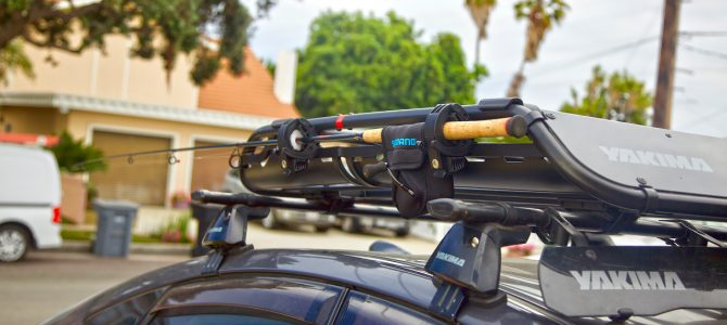 Simple Fishing Rod Rooftop Basket Travel Carrier