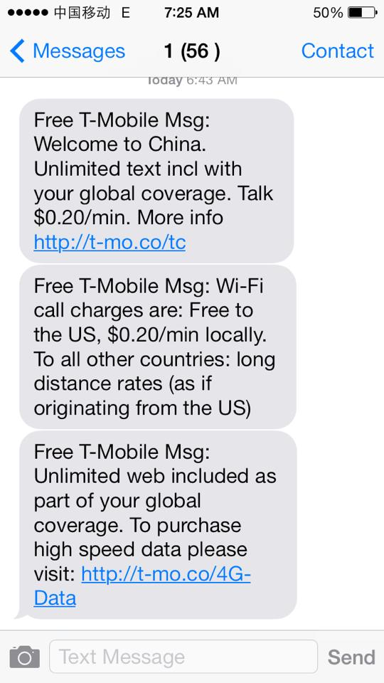 T-Mobile's Free International Data Roaming and Texting